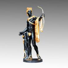 Gran Escultura de Jardín de Bronce Titan Apollo Artesanía Latón Estatua Tpls-027j