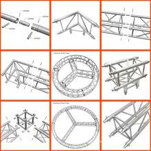 Support modulaire en treillis en aluminium Design en treillis courbé en aluminium Support en treillis modulaire en aluminium