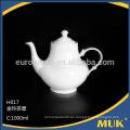 2016 moderno restaurante excelente calidad hueso china tetera de cerámica
