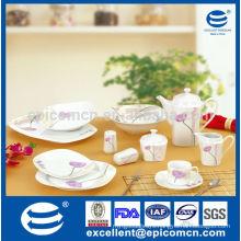 45pcs square hotel&restaurant ware ceramic wholesale