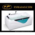 Bañera rectangular independiente del masaje del acrílico W / vidrio moderado (MG-109)