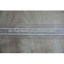 Transparente Vorhangband