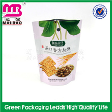 Eco-friendly stand up resealable ziplock closure dried fruit picking bags with tear notch