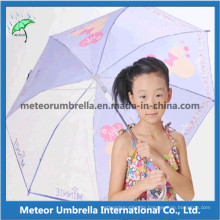 Fabric and Plastic Canopy with Printing Beautiful Design Kids Umbrella
