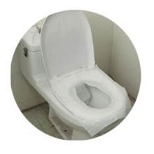 fundas de asiento desechables de papel higiénico