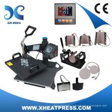 Máquina de transferência de calor 8in1, máquina de pressão térmica combinada, impressora digital de pressão quente