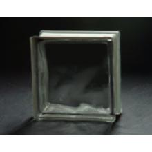 190 * 190 * 80mm Bloc de verre sombre gris