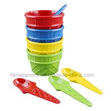 Melamine Ice Cream Bowl Set with Spoon (TZ4250)
