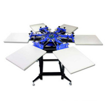 TM-R6 6-Color Manual Rotary T Shirt Textile Screen Printing Machine