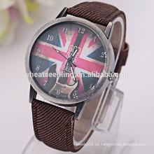 Bandera de la bandera del Reino Unido voga hombres reloj