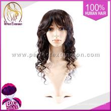 Comprar un artículo 100% pelo humano peluca de pelo corto gris