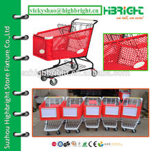 virgin PP strong plastic hand pushing shopping cart