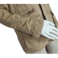 Männer Winter dicke warme Militärjacke Full-Zip Outcoat Kunstpelz gefüttert