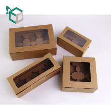 FSC Lebensmittelqualität braun Kraftpapier macaron Kuchen Box Cupcake-Paket