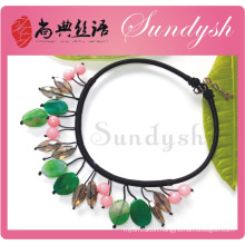 2014 New Arrived Handmade Green Natural Stone Necklace Jewellery