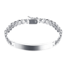 2017 Fashion Silver Plated Male Bracelet Simple Style Bracelet