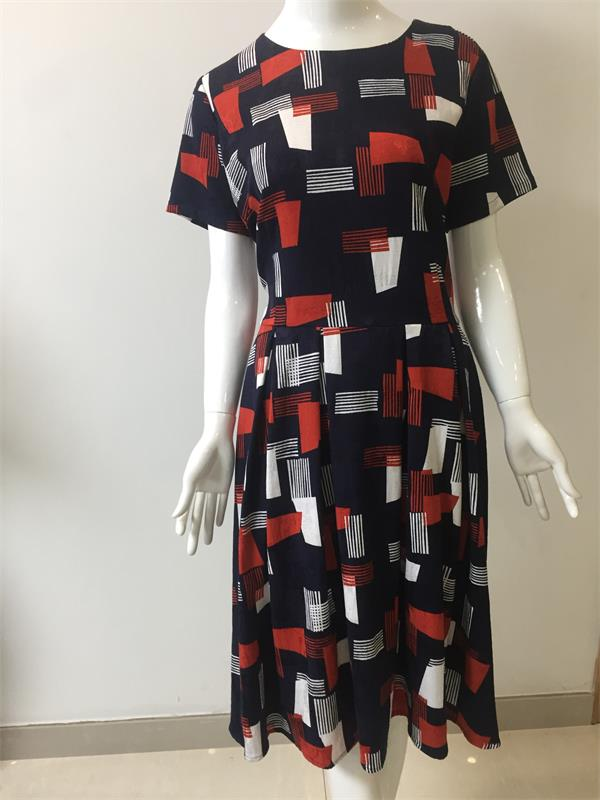 Woman Printed and Jacquard Dress
