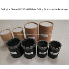 Geological Diamond BQ PQ Core Drill Bit forRock