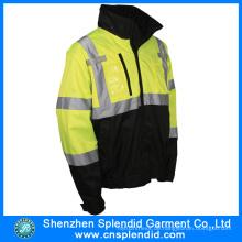 Großhandelssicherheit Regen tragen wasserdichte reflektierende Polizei Regenmantel