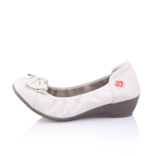 China shoe factory novo estilo senhoras couro solas flat aberto sapatos