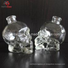 50ml personalizado garrafa de vidro do crânio com Bartop