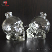50 мл Подгонянная стеклянная бутылка черепа с Bartop