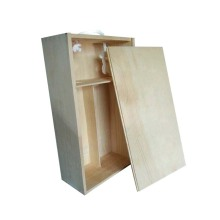 Scatola per vino con packaging in legno massello