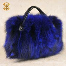 Vente en gros Mode Femmes Sacs fourre-tout en fourreau véritable Sac à main véritable en fourrure Fox