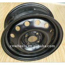 Jantes en acier pour voiture, 15X6J, roue noire 16X6.5J