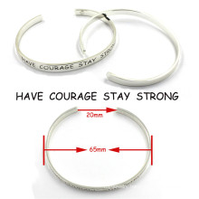 Custom Engrave Stainless Steel Jewelry Bulk Custom Metal Bracelets