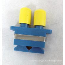 Sc-FC Duplex Plastic Hybrid Fiber Optic Adapter