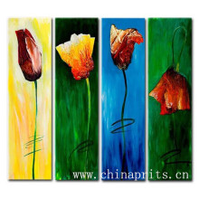 Handmade Newest Style Oil Painting Pictures Of Flowers On Canvas