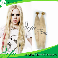U-Tip Blond Unprocessed Brazilian Virgin Hair Human Remy Hair