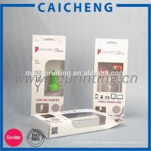 Auto-Ladegerät Verpackung Papier-Fenster-Box mit Kunststoff-Einsatz