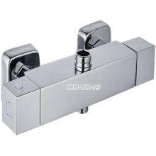 Torneira de banho termostática em bronze quadrado