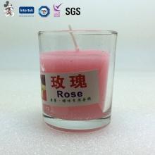 Venda direta do Preço Do Competidor Eco-Friendly Wax Glass Cup Candle