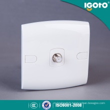 Igoto British Standard Ce Saso RJ45 Satellite TV Wall Socket Outlet