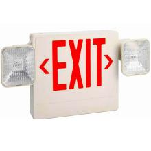 Luz de combinação de emergência sinal vermelho branco todo sinal de saída led