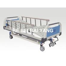(A-50) --Movable Doppel-Funktions-Handbuch Krankenhaus Bett mit ABS Bett Kopf