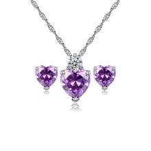 Dubai Jewellery Design Wedding Jewelry Set, Cz Red Stone Necklace Bridal Wedding Jewelry Set