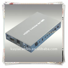High Quality HIFI 4x1 HDMI Switcher HIFI 4 in 1 out HDMI Switcher