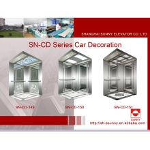 Elevador cabine com armação de aço inoxidável (SN-CD-149)