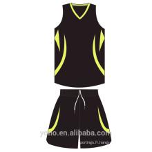 OEM \ ODM en gros vêtements de basket-ball personnalisé mesh respirant Basketball Jersey Full Sublimation uniforme de basket-ball réversible