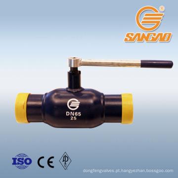 atacado grande tipo de alavanca de desconto válvula de esfera soldada válvula de esfera padrão wel sold válvula de gás operado
