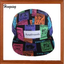 5 casquette / chapeau de camp de hip-hop de galaxie de panneau
