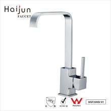 Haijun Favorable Price cUpc Chrome cromado Fivela de cozinha de fuso único flexível