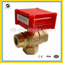 Válvula eléctrica de 3 vías DN15 mini 1.0 serie para equipos de centro comercial para el control automático