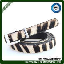 Women Belt Leopard Print Thin pour Lady Jeans féminins Jeans Casual Cintos Ceinture Fashion