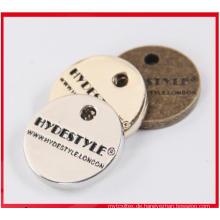 Kundenspezifische Fabrik direktes Produkt Hang Metal Garment Tag