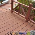 WPC Coffee Fsc / Ce / SGS / ISO Suelo compuesto de tarima de plástico hueco 140X25 mm